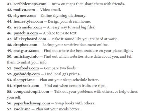 115 Most Useful Websites On Internet