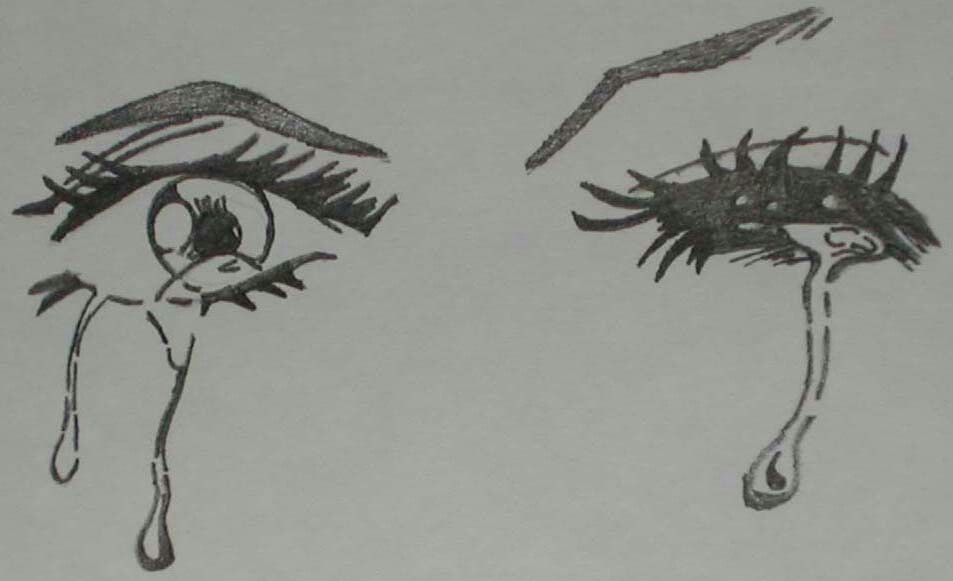 Anime Eyes Crying Sketches Drawings Crying Eye Drawing
