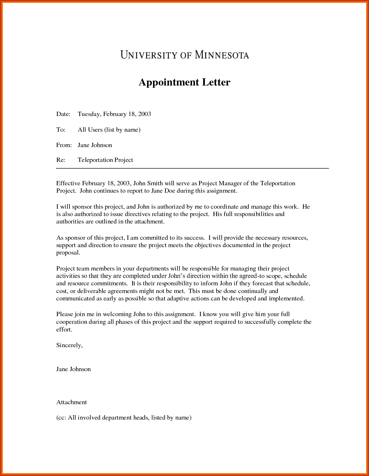 letter appointmentmple appointment sample simple format best ...