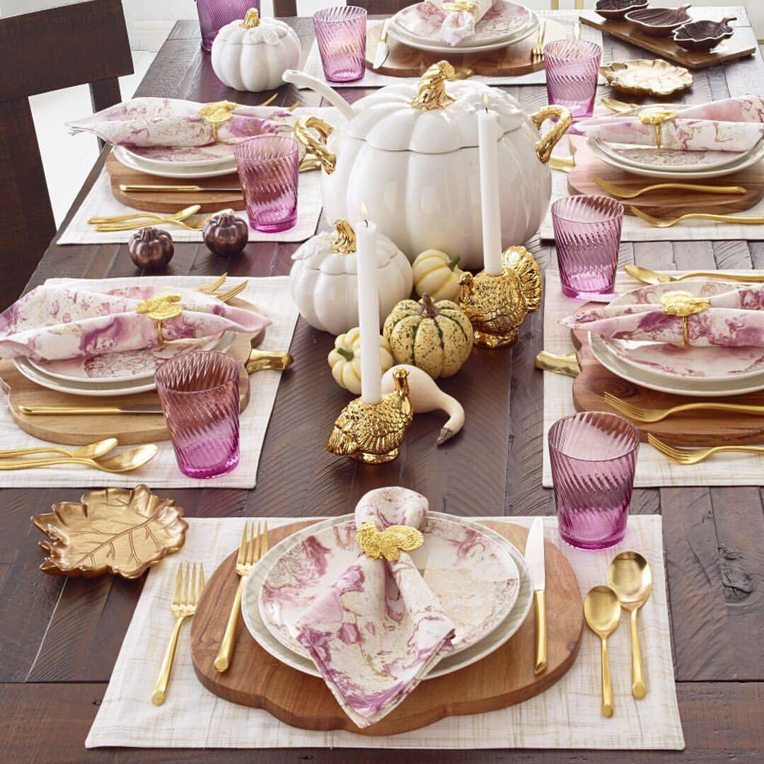 3 724 Likes 26 Comments Macy S Macys On Instagram Purple Gold Thanksgiving Table Settings Thanksgiving Table Settings Diy Rustic Thanksgiving Table