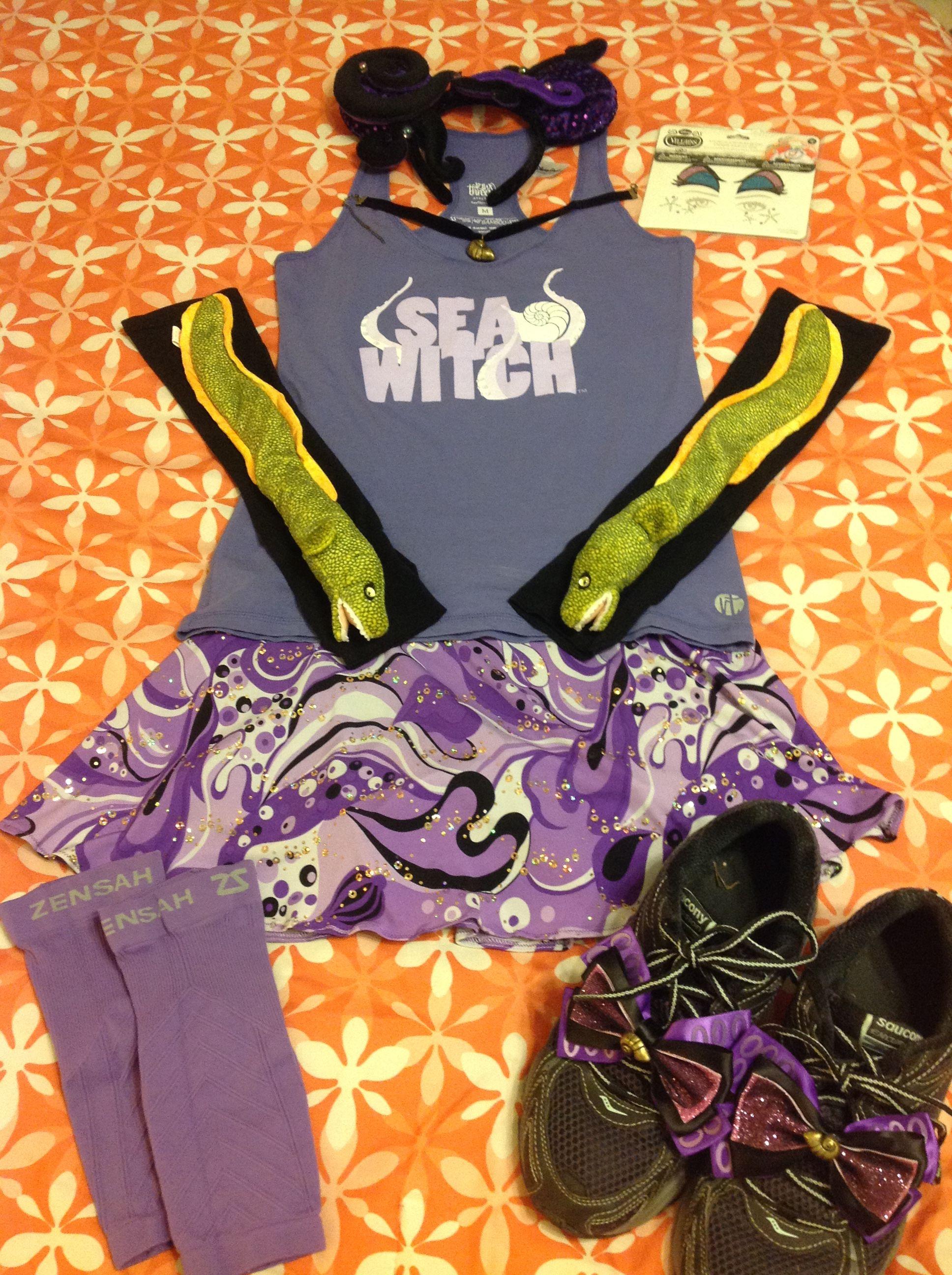 Ursula running costume Disney race costume, Run disney