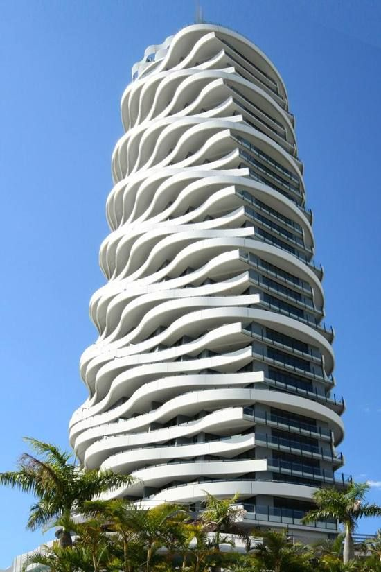 This is wave skyscraper located in the gold coast for Amazing architecture