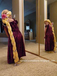 Diy Glowing Rapunzel Hair Tutorial Rapunzel Hair Rapunzel Rapunzel Costume
