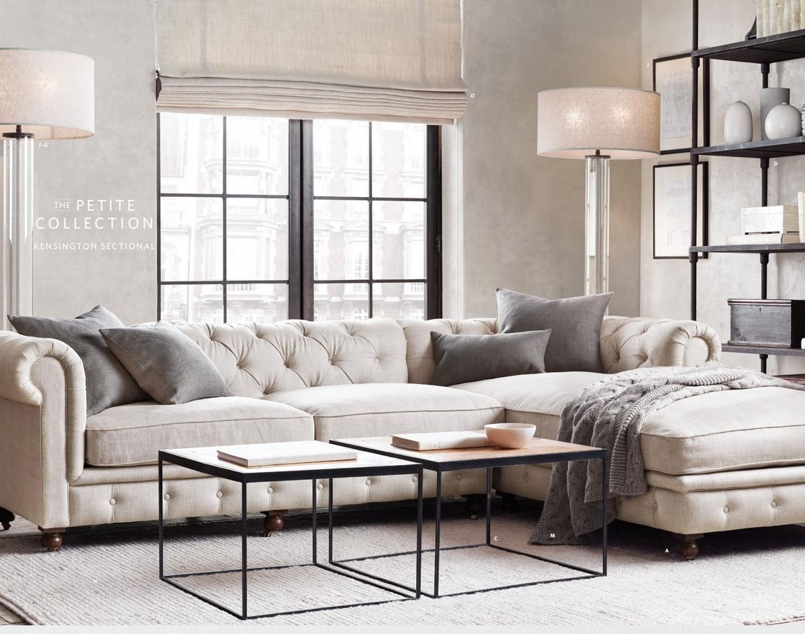 Living room- could use two square coffee tables to move around ...