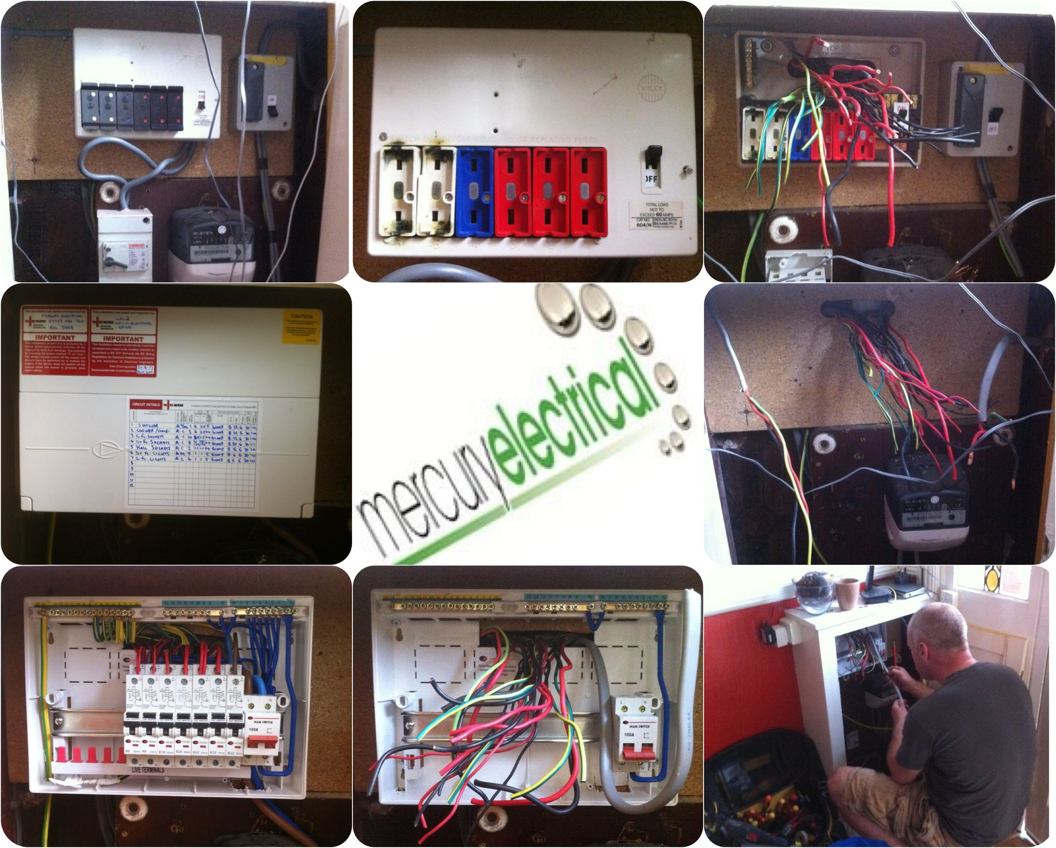 "Replaced a typical ""Wylex fusebox"" dating back to the 1980's"