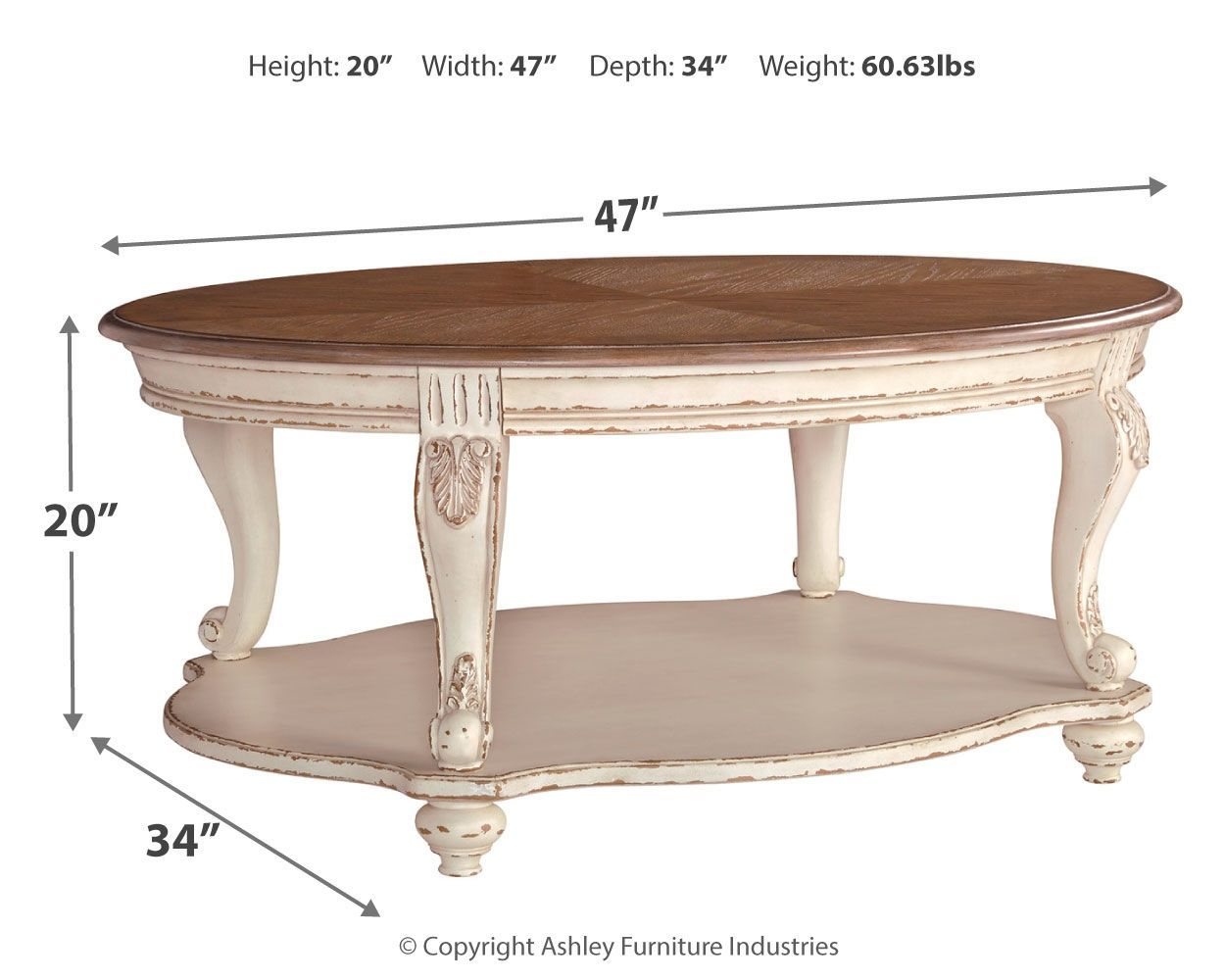 Realyn White Brown Oval Cocktail Table In 2021 Coffee Table Oval Coffee Tables Table [ 1000 x 1250 Pixel ]