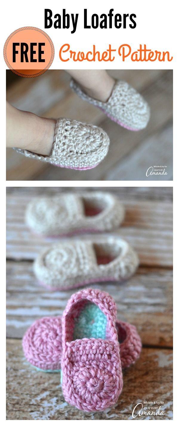 Cute crochet baby loafers free pattern crochet baby free crochet baby loafers free pattern bankloansurffo Choice Image