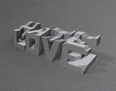 3D Typography on Behance #3dtypography