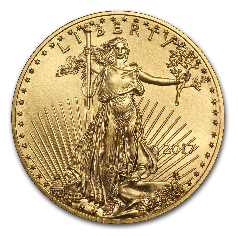 U S Mint 2017 1 4 Oz American Gold Eagle Coin Bu Walmart Com In 2020 Gold Eagle Coins American Eagle Gold Coin Gold Coins