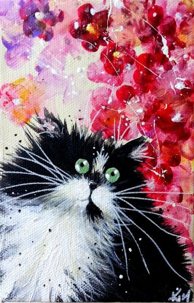 Kim Haskins Online Shop | 'Petal' painting and like OMG! get some yourself some pawtastic adorable cat apparel!