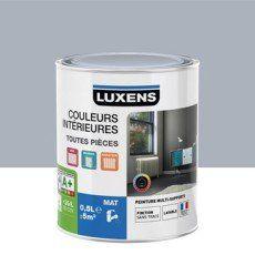Peinture gris zingué 5 LUXENS Couleurs intérieures mat 0.5 l ...