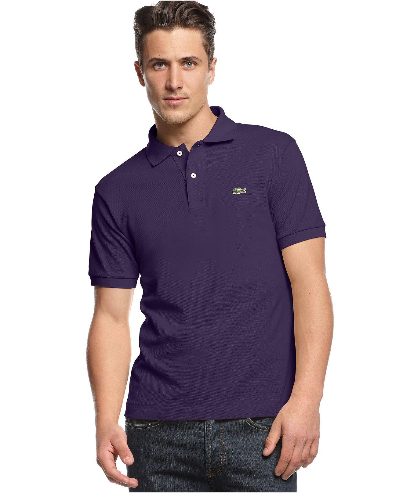 Lacoste Shirt Classic Pique Polo Shirt Mens Polos Macy S