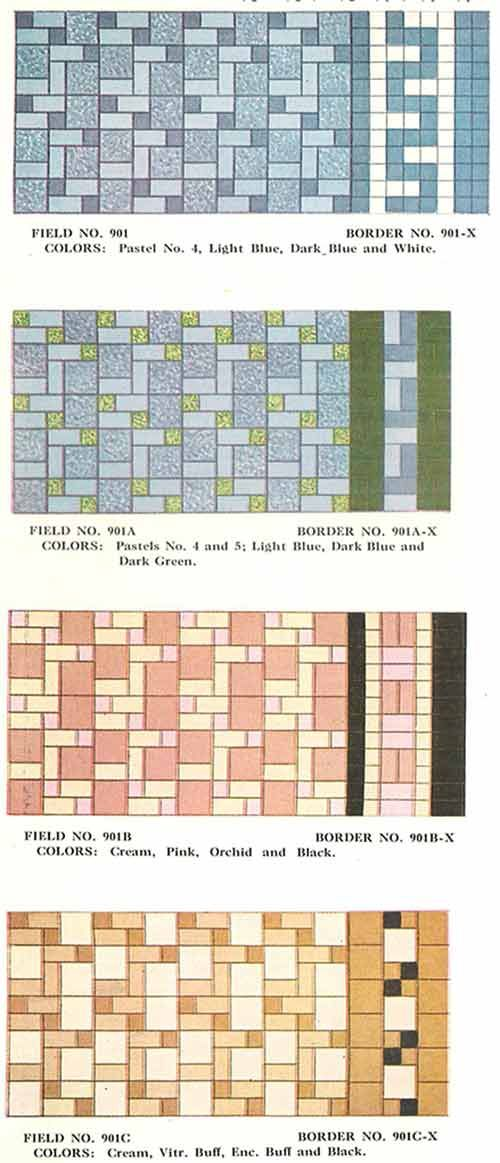 112 Patterns Of Mosaic Floor Tile In Amazing Colors Friederichsen Floor Wall Tile Catalog 1929 Mosaic Flooring Patterned Floor Tiles Mosaic Floor Tile