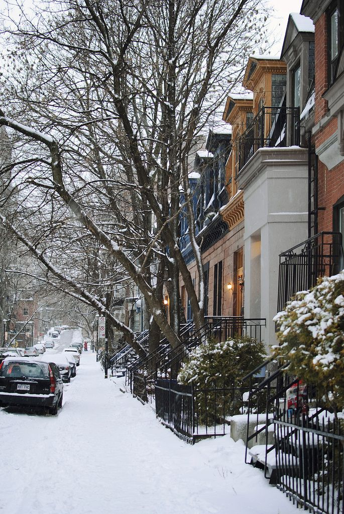 Montreal under snow