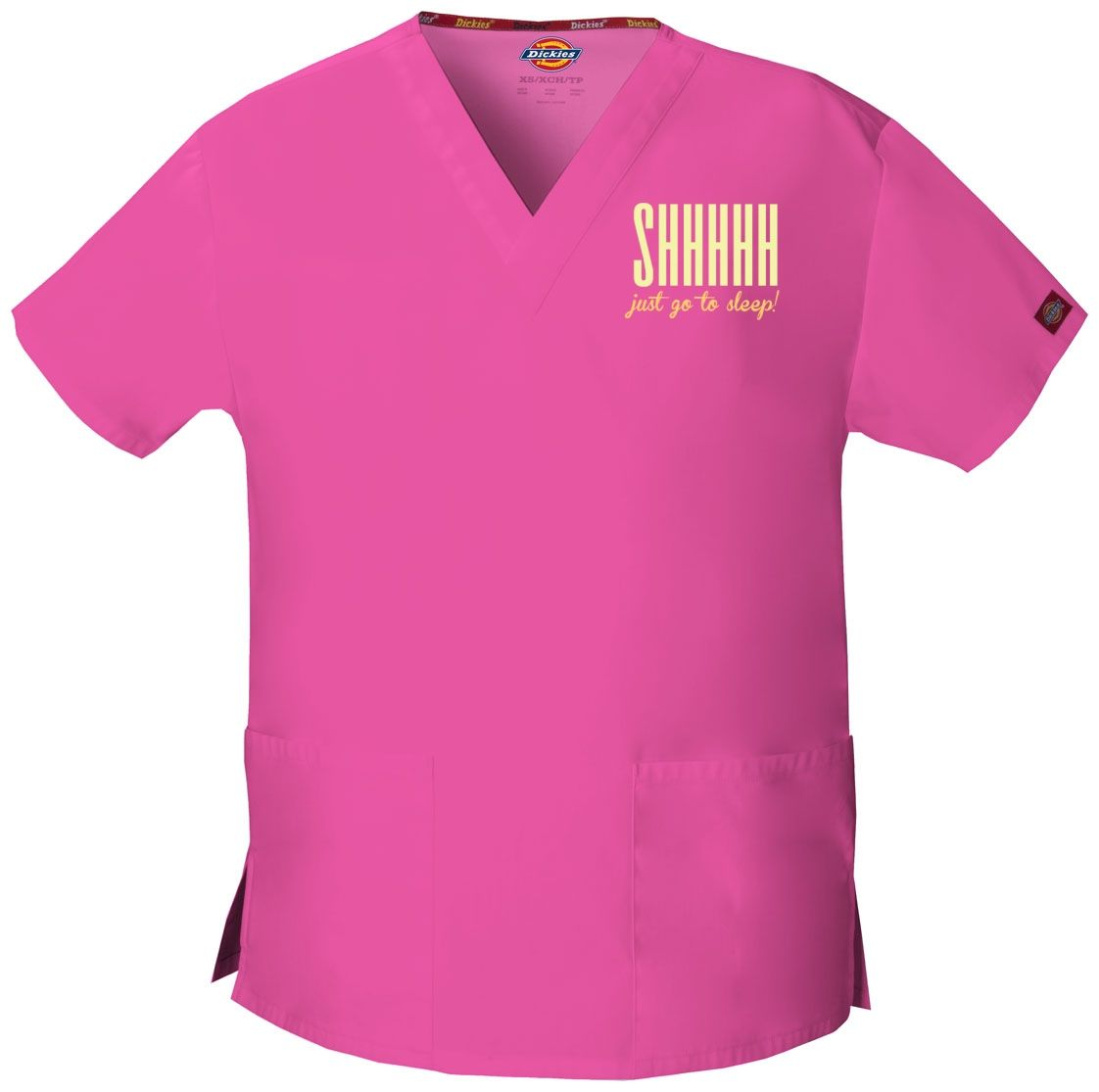 Shhhh Just Go To Sleep - Anesthesiologist - Embroidered Scrub / Embroidered  Medical Srcubs Tops