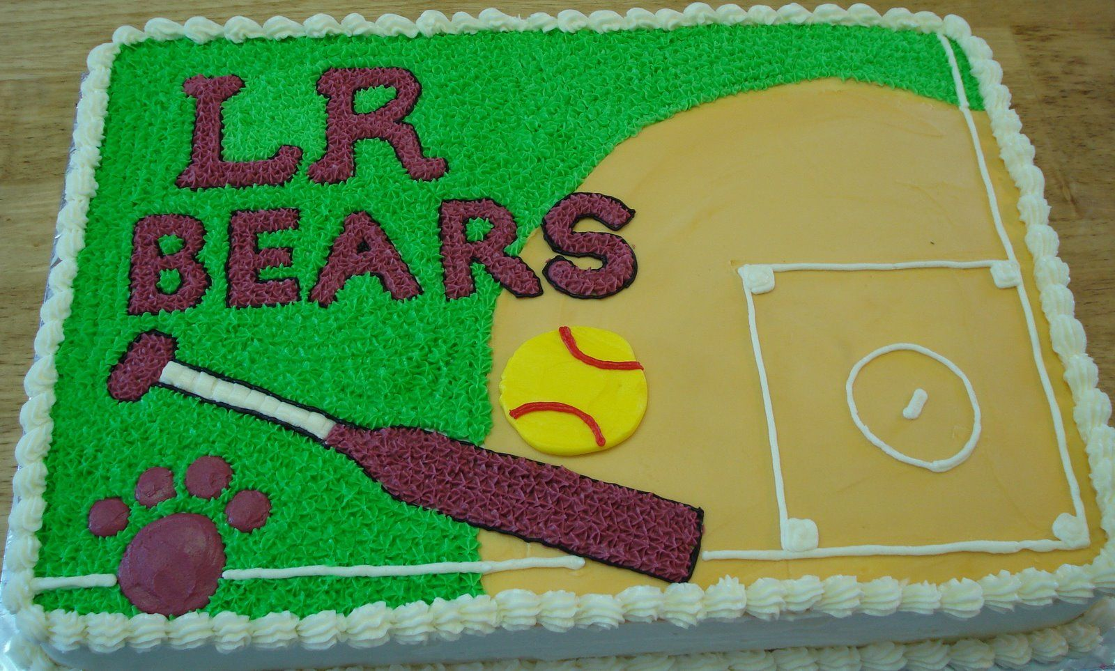 softball field cakes cakes, cupcakes and other