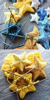 Photo of Knit Stars – Free Pattern – Stricken ist so einfach wie 1, 2, 3 Das Stricken lä…