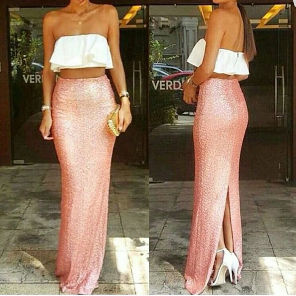 Pink sequin mermaid maxi set apply code sequins for off