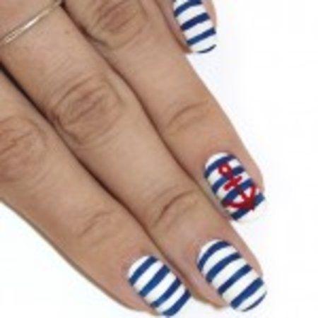 Nautical Manicures #nails #nailart #howto #tips #polish - bellashoot.com