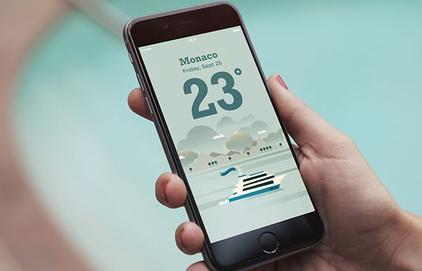 RELAX // Weather App on Behance in 2020 (With images
