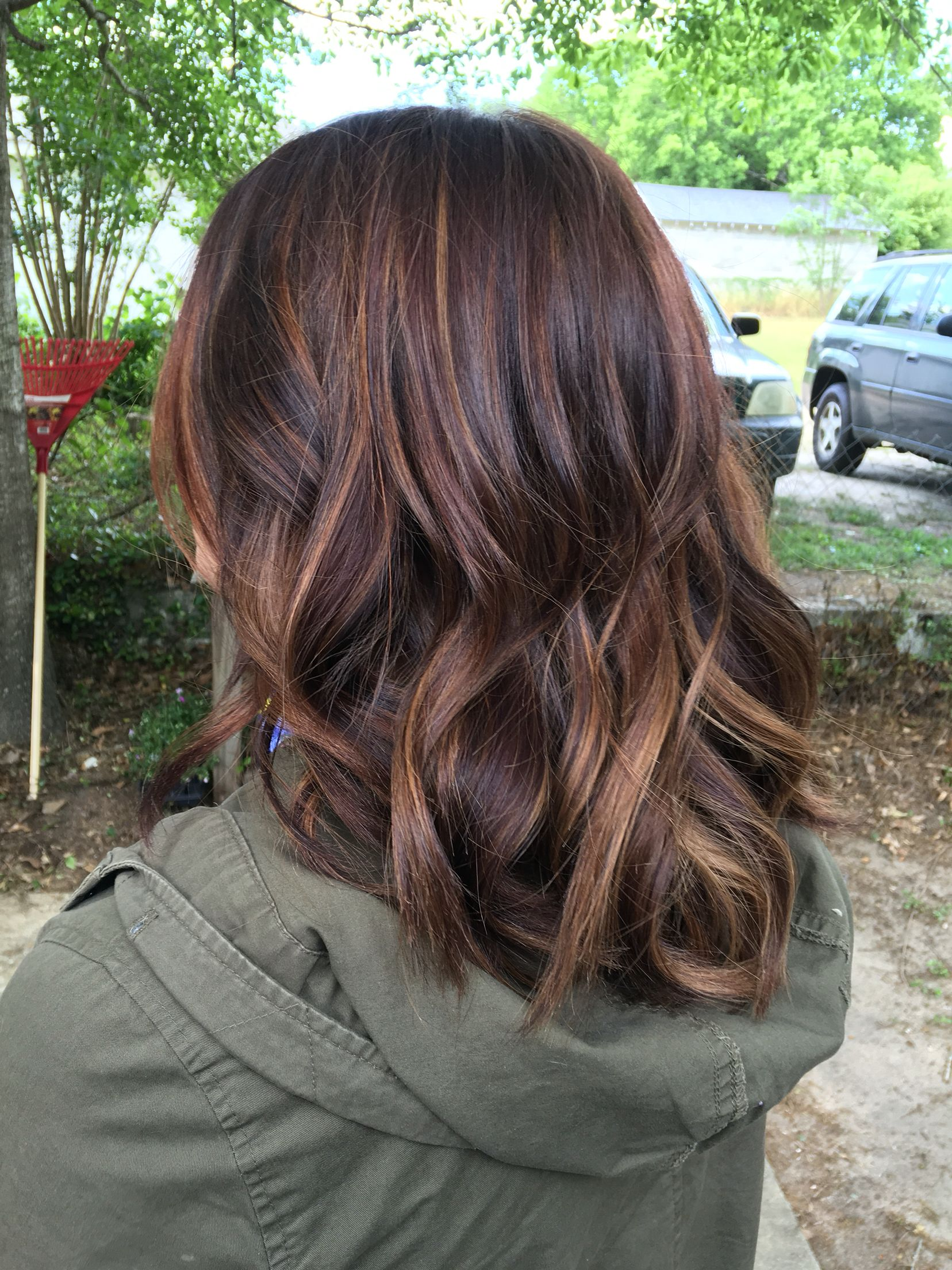 brunette balayage highlights hair aspirations Pinterest