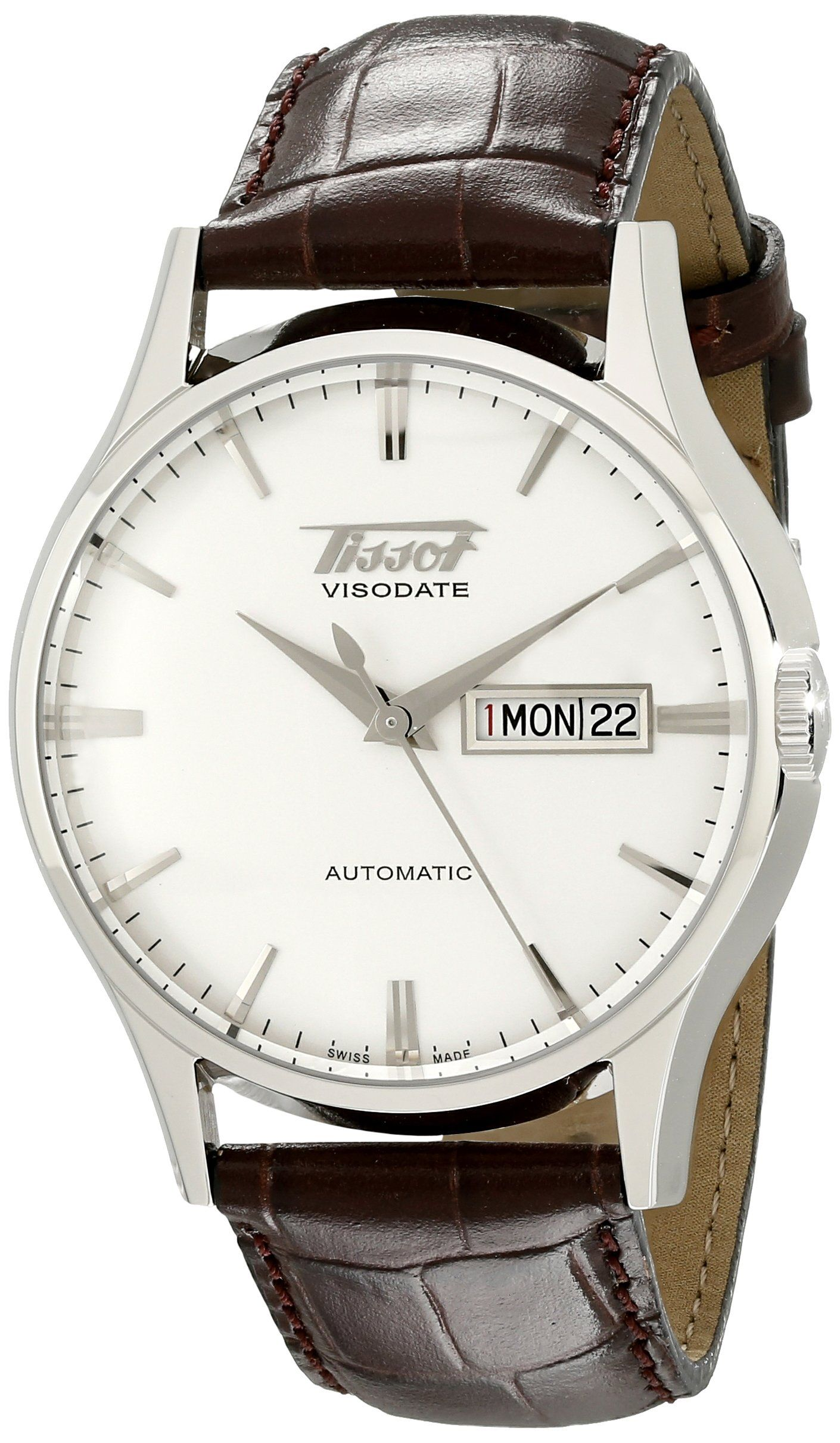 Amazon Com Tissot Men S Tist0194301603101 Heritage Visodate Analog Display Swiss Automatic Brown Watch Tissot Clothing Montre Horloge Belles Montres