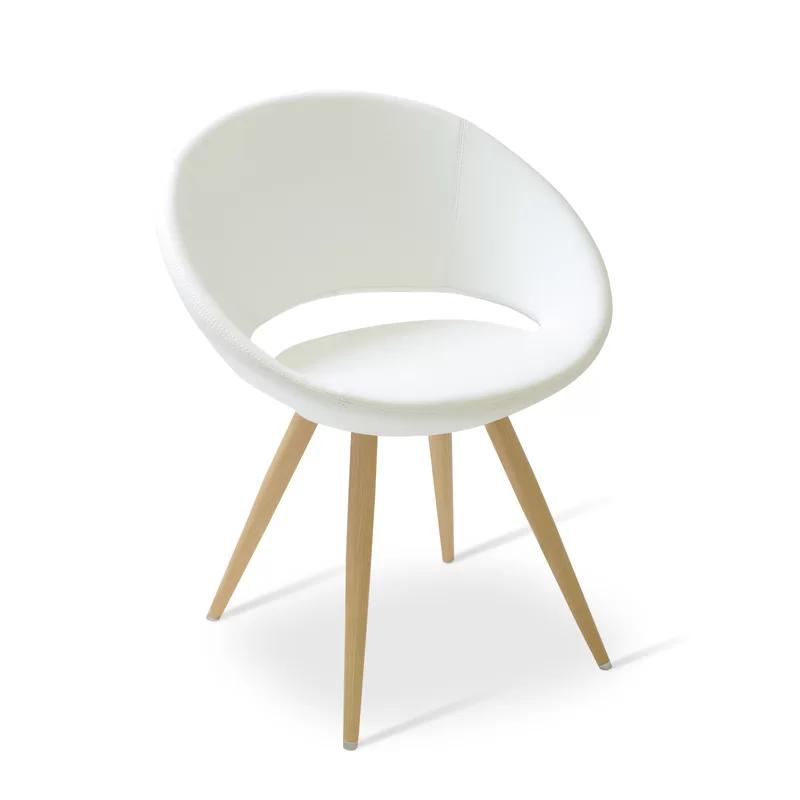 Crescent 24 W Faux Leather Papasan Chair Papasan Chair Chair White Dining Chairs