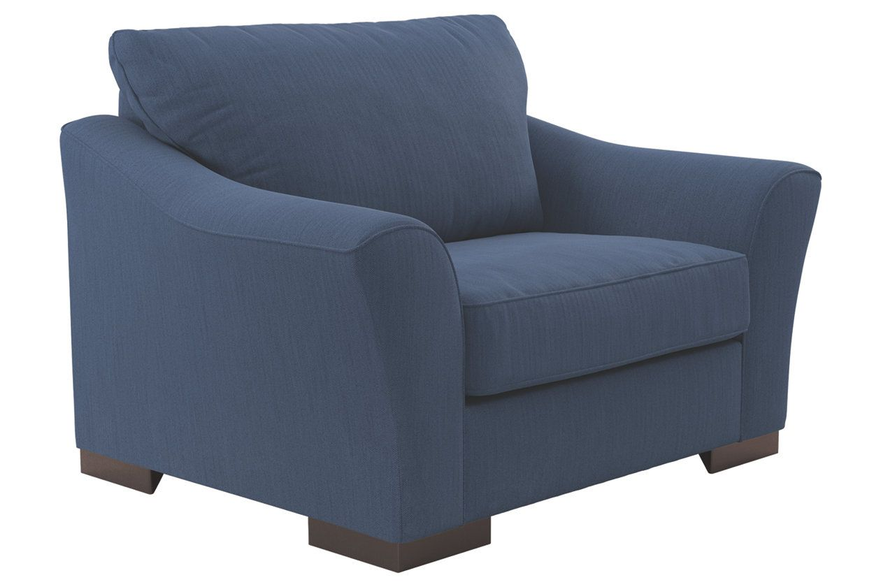 Bantry Nuvella® Oversized Chair, Indigo Oversized chair