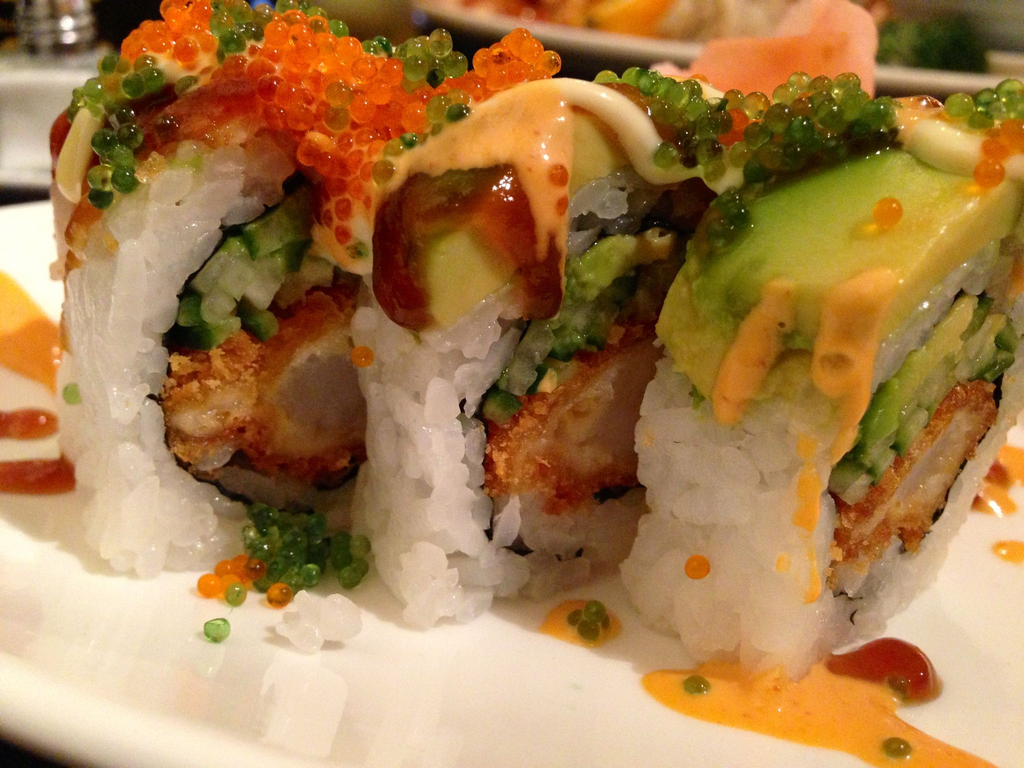 Tiger Roll from Sushi Garden in Modesto!! Yes please! | Food ...