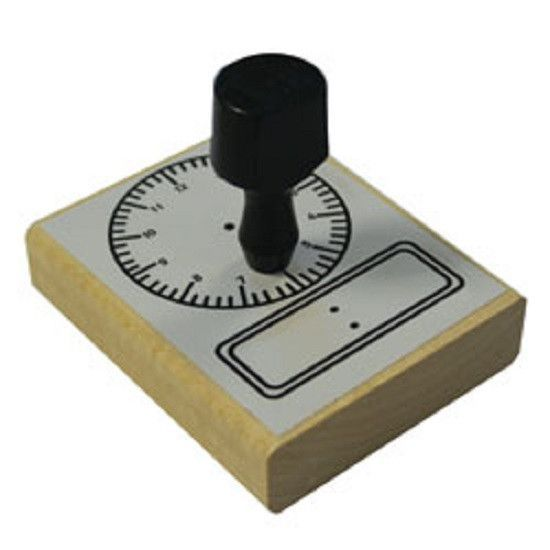 Large 2.75 Inch Analog Clock Rubber Stamper/ Time Educational Teaching Aid