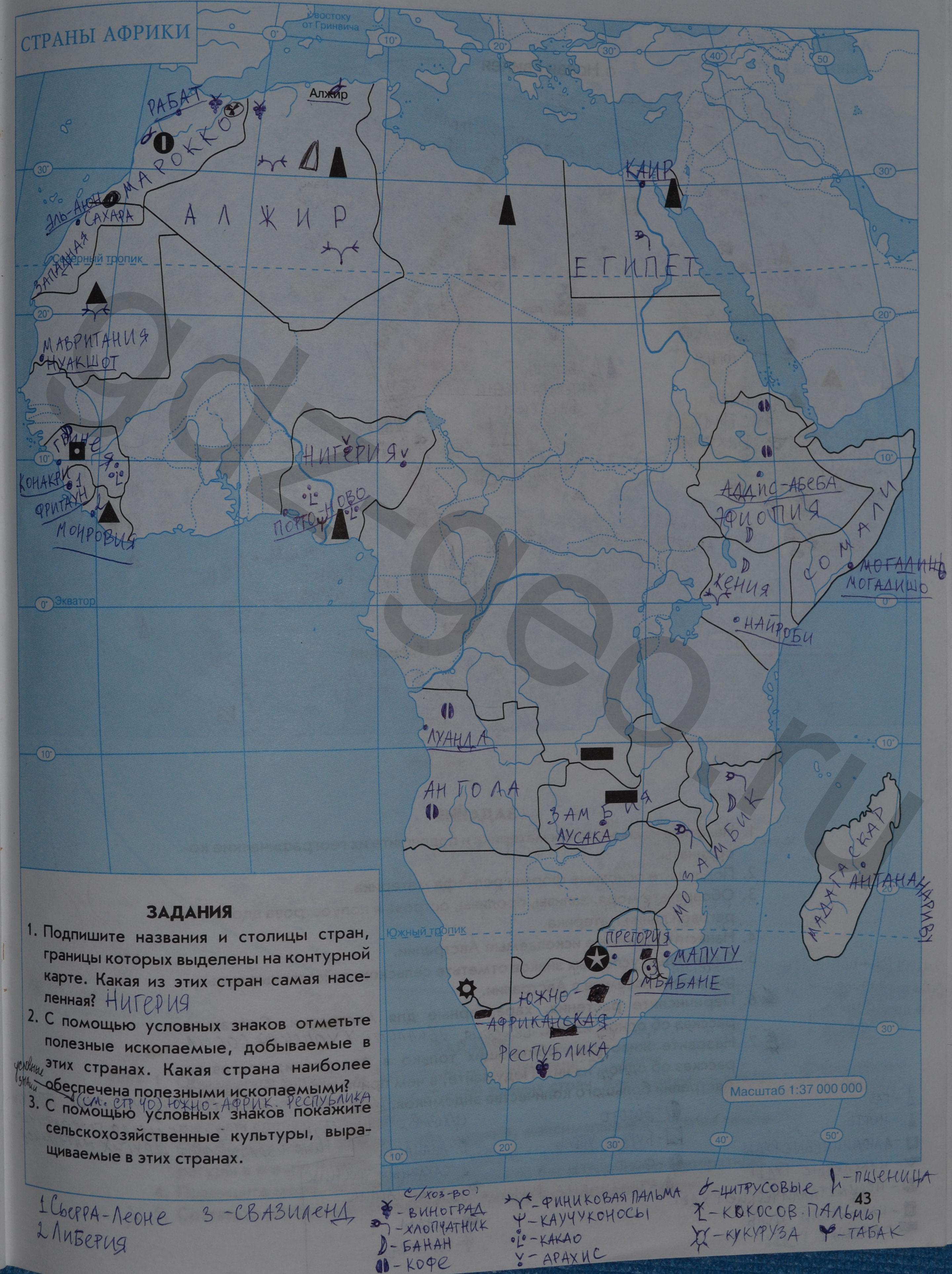 Решебник по географии 6 класс галай крайко практические задания без скачивания