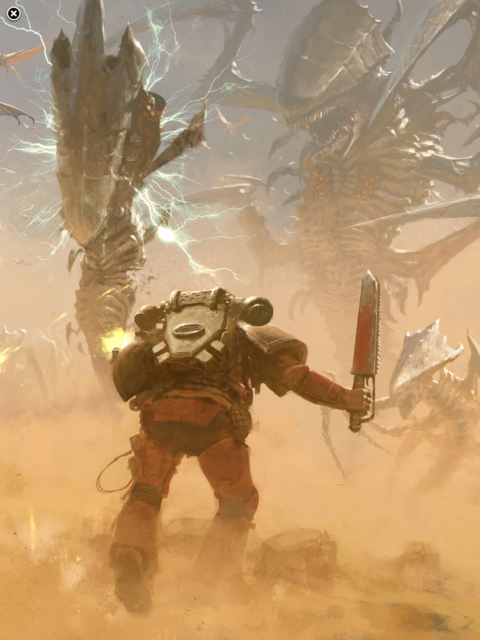 Flesh Tearers vs Tyranids by Jose Cabrera | Warhammer 40k artwork ...