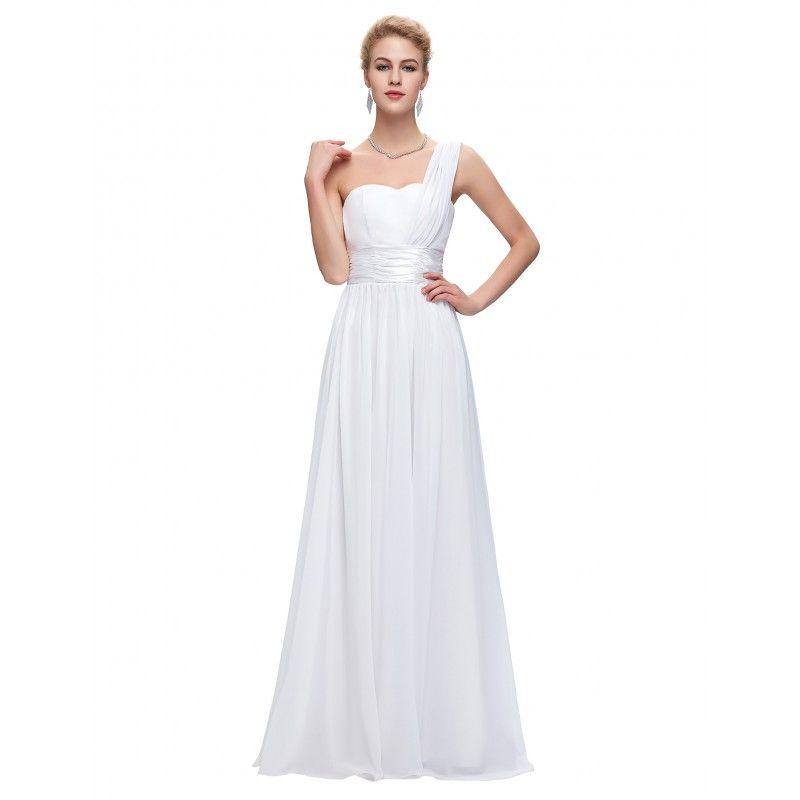 Biele spoločenské šaty CL6022  d7610f21099