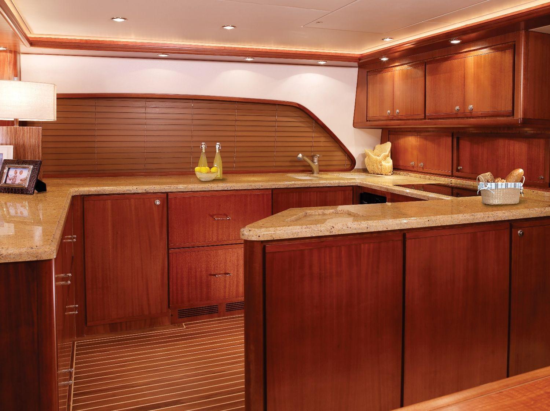 Bertram 70 Galley Luxury Yacht Kitchen Cabinets Interior Kitchen