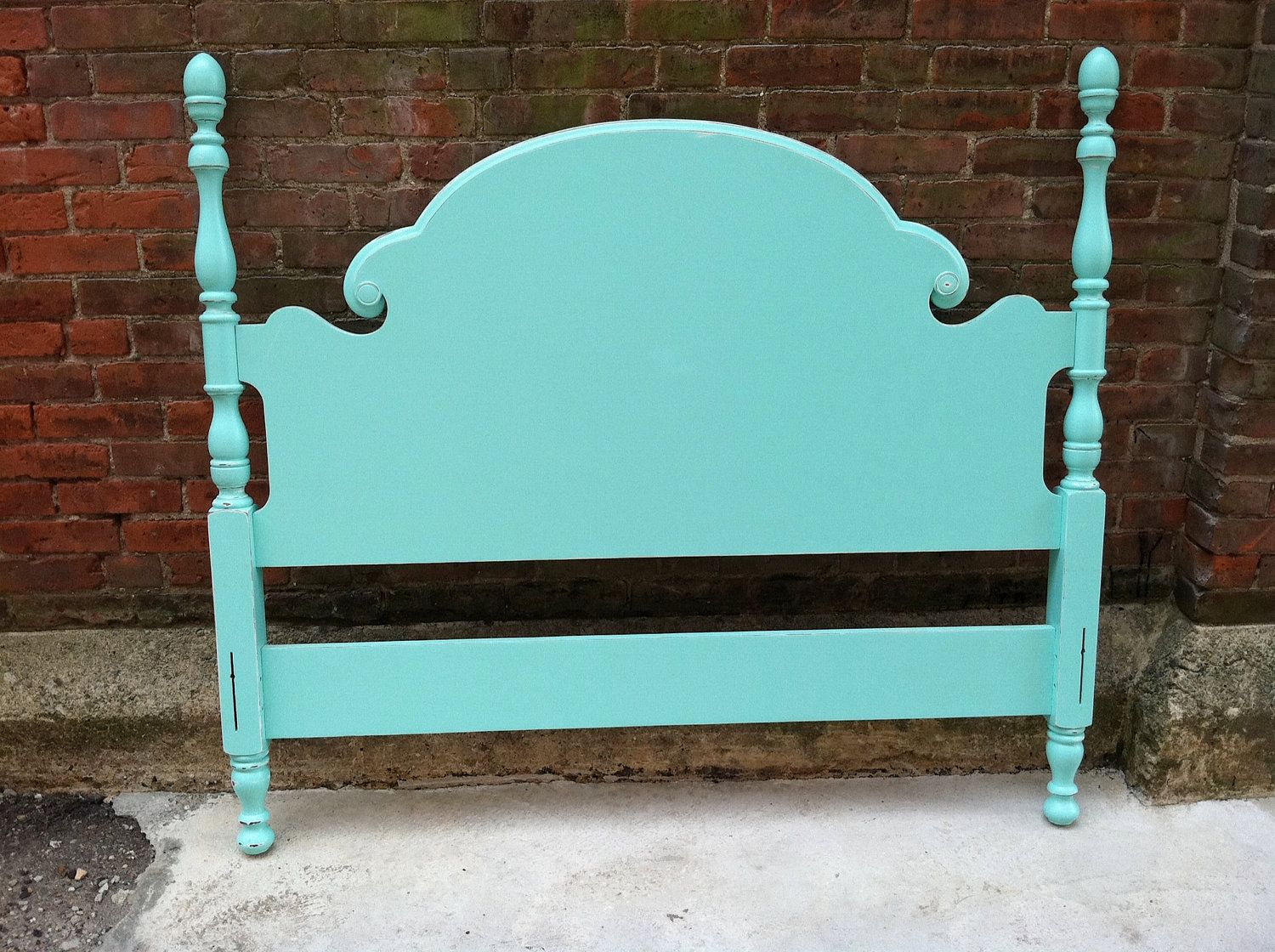 free nyc delivery aqua painted full double bed complete with headboard footboard and wooden side rails
