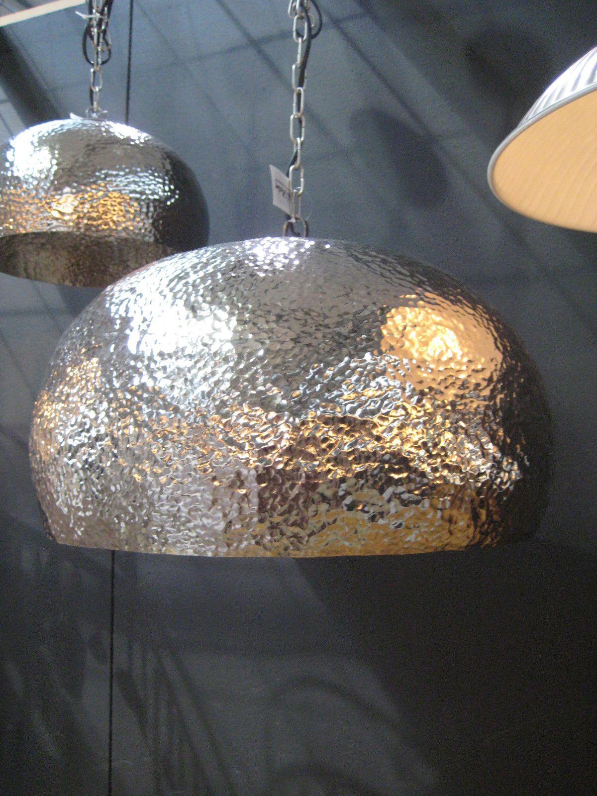 Hängelampe Marit Xxl 52 Cm Durchmesser Hämmeroptik Silber Ebay Design Lampen Lampe Hänge Lampe