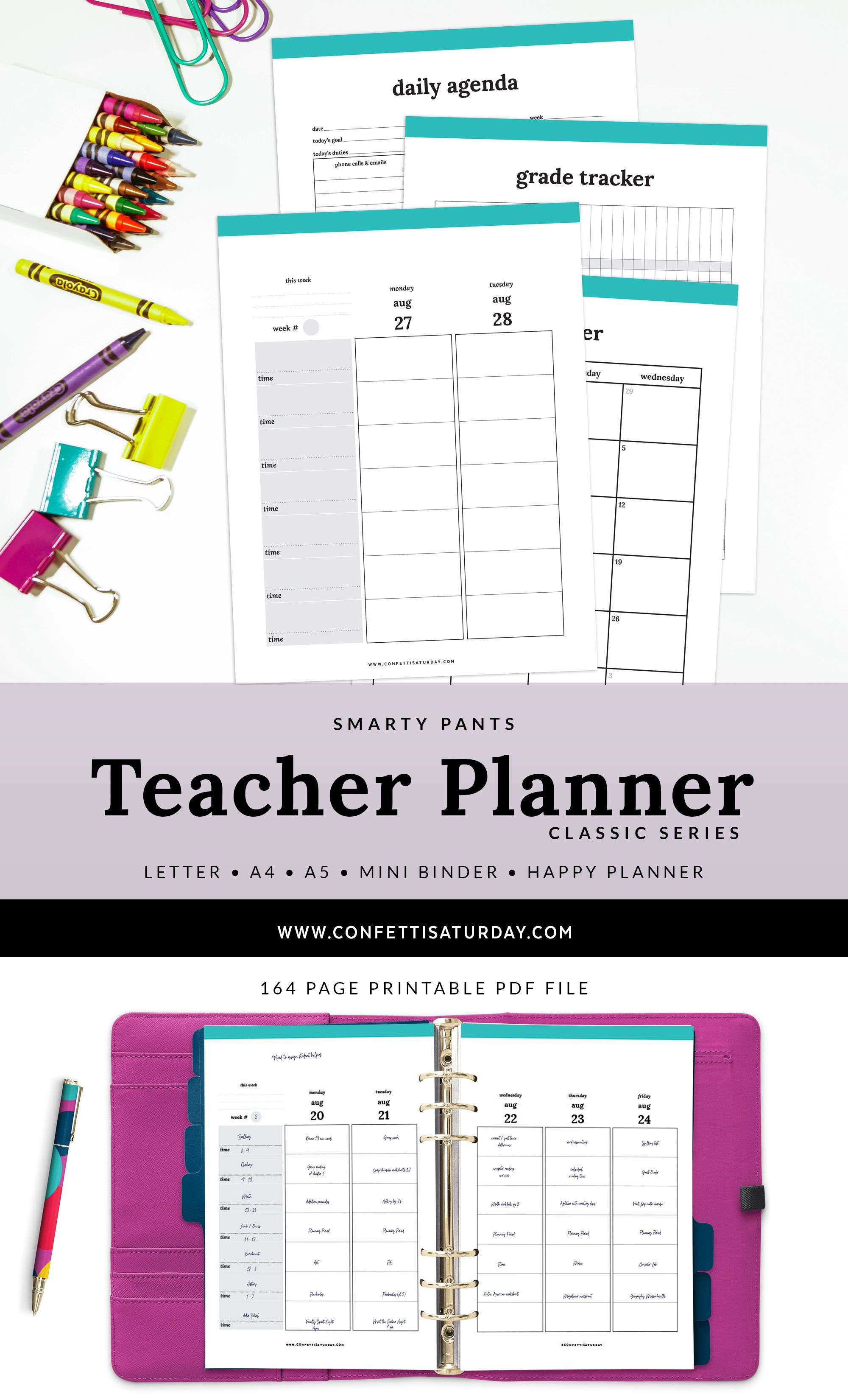 Teacher Planner Printable With Tons Of Extras Download
