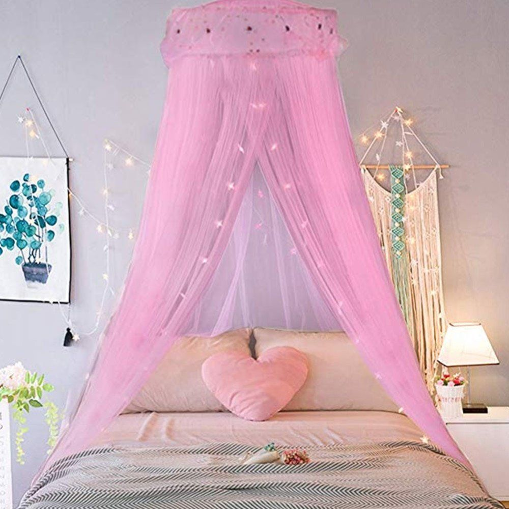 Girlchoice Princess Bed Canopy Mosquito Curtain Pink Princess Canopy Bed Princess Bed Princess Room Decor