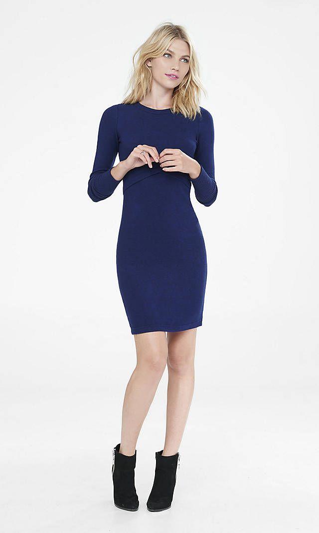 442f2237bd Royal Blue Cozy T-shirt Dress from EXPRESS  30