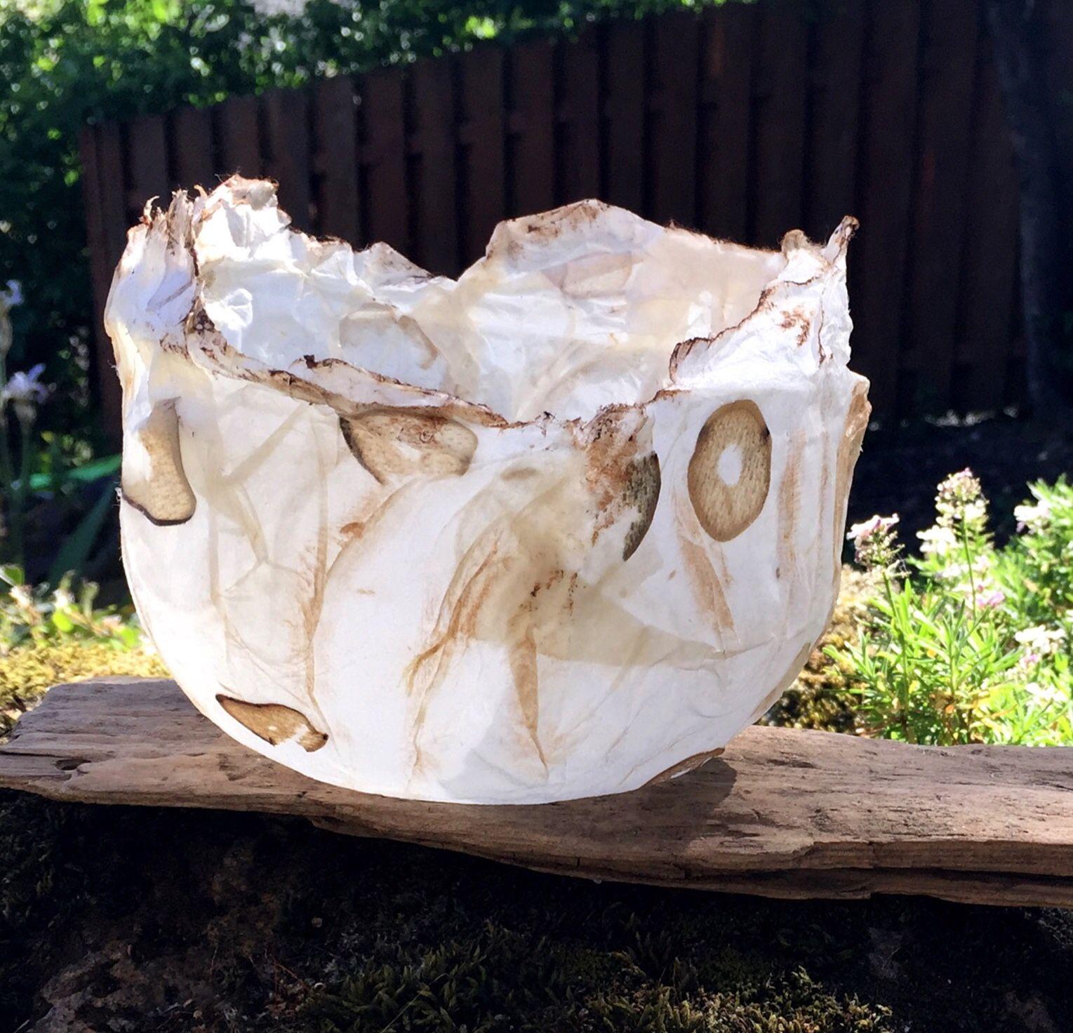 Paper Bowl  Sculpture  Artist Robin Panzer www.robinpanzer.com