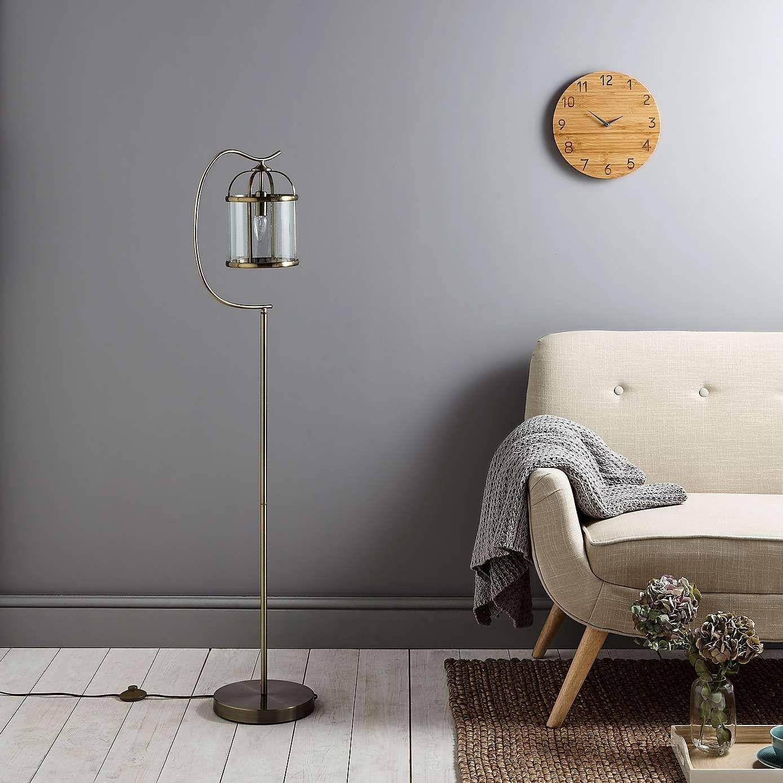Hurricane Antique Br Floor Lamp