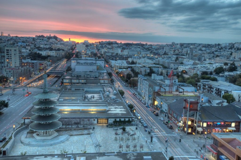 Japan Town In San Francisco Look At This Amazing Sunset We