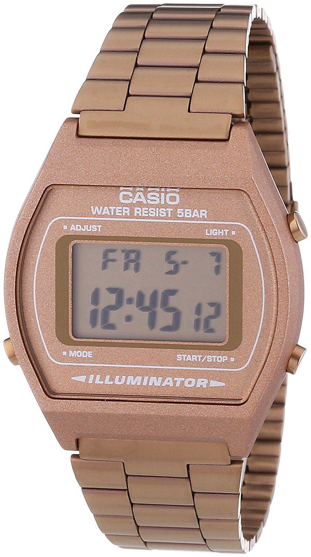 f76ef58bffe3 Amazon.com  Casio B640WC-5AEF Ladies Retro Digital Watch  Casio  Clothing