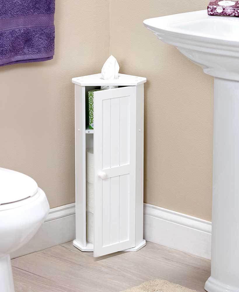 Space Saving Design Toilet Paper Roll Corner Storage Holder Bathroom Home Decor Home Ga Diy Bathroom Storage Bathroom Corner Storage Small Bathroom Storage