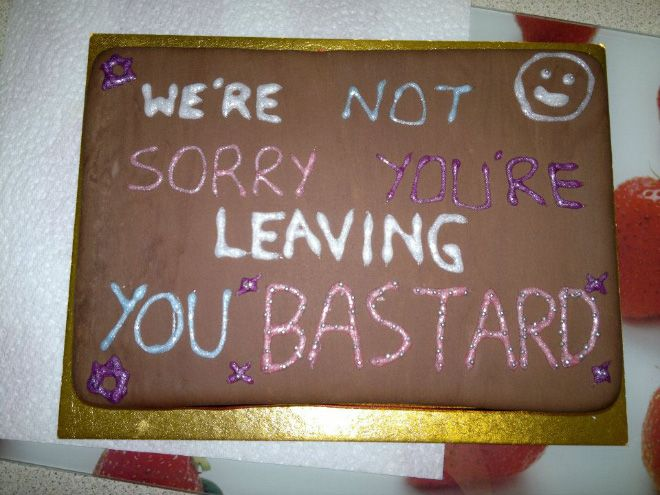 Hilarious Farewell Cakes Funny Pinterest Hilarious And Humor - 18 savage cakes that get straight to the point