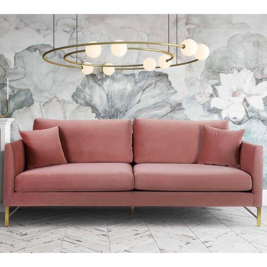 Seat Width 80 3 Seat Depth 32 5 Seat Height 36 Arm Height 29 1 Leg Height 7 5 Velvet Sofa Gold Sofa