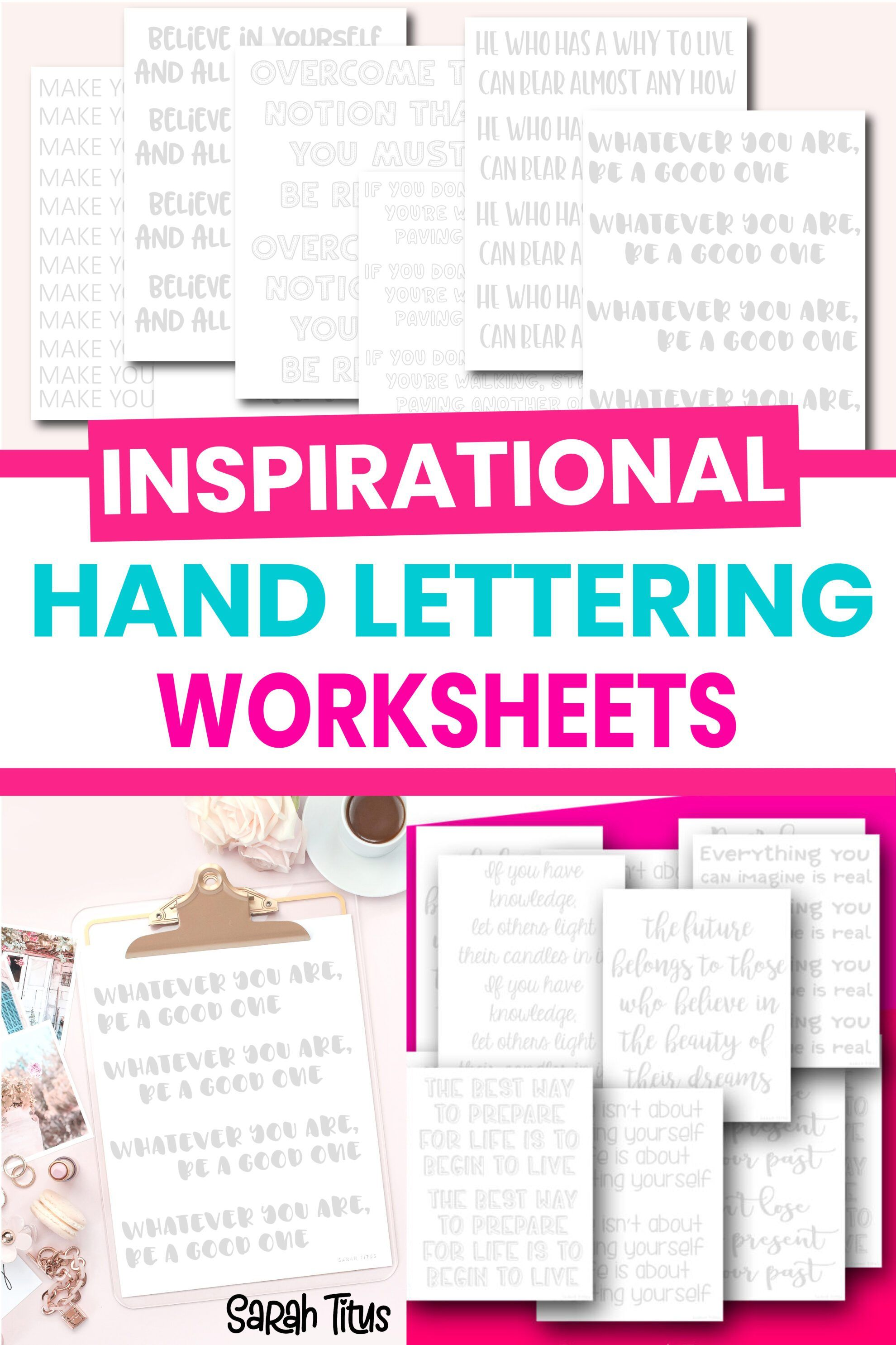30 Days To Better Hand Lettering Quote Worksheets In