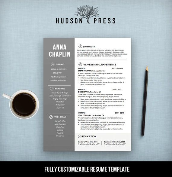 Resume Template CV Template + Cover Letter Letterhead - how to get resume templates on microsoft word