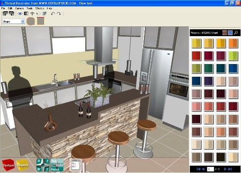 Decoration Interior Design With Some Colors Choices Nicie In Brown Color Of Table And Kitchen SoftwareInterior