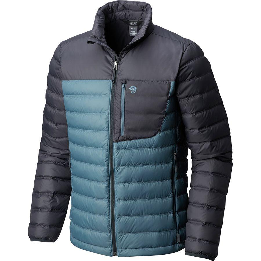 Mountain Hardwear Dynotherm Down Jacket Men S Machine Blue Down Jacket Jackets Men S Coats And Jackets